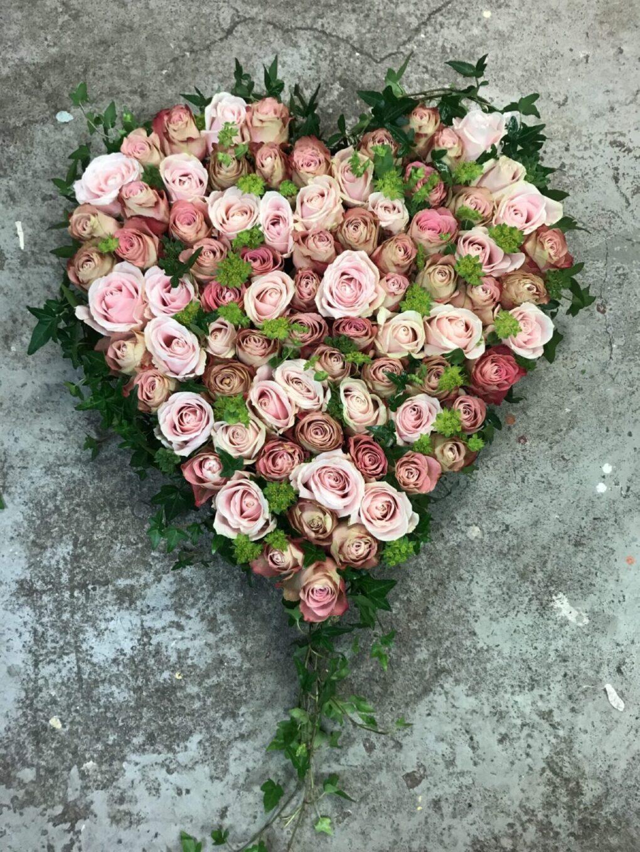 Fyllt oasishjärta Rosa Stor